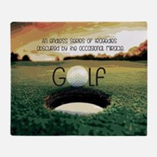 The Miracle of Golf Throw Blanket