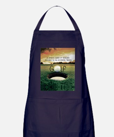 The Miracle of Golf Apron (dark)