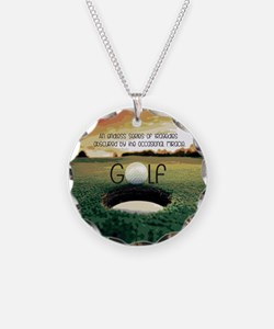 The Miracle of Golf Necklace Circle Charm