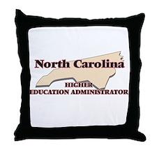 North Carolina Higher Education Admin Throw Pillow
