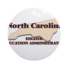 North Carolina Higher Education Adm Round Ornament