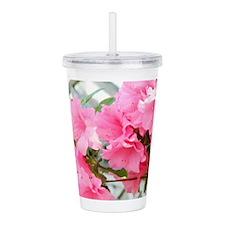 Pink Azaleas In Bloom Acrylic Double-wall Tumbler