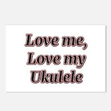 Love Me, Love My Ukulele Postcards (Package of 8)