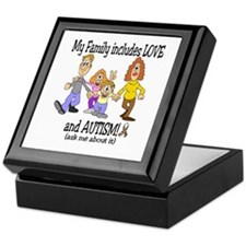 My family includes autism! Keepsake Box