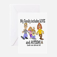 My family includes autism! Greeting Card