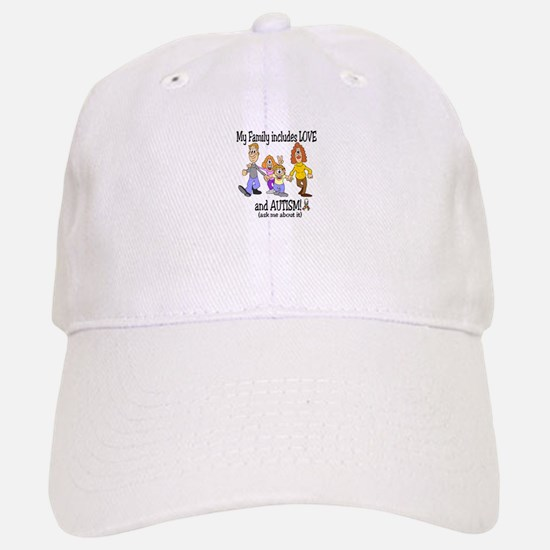 My family includes autism! Baseball Baseball Cap