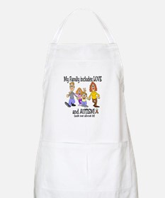 My family includes autism! BBQ Apron