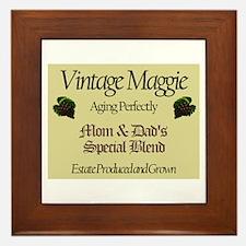 Vintage Maggie Framed Tile