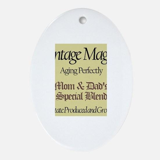 Vintage Maggie Oval Ornament