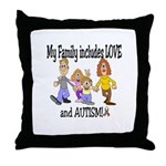 My Family includes LOVE and A Throw Pillow