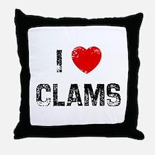 I * Clams Throw Pillow