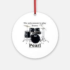 Pearl Design 2 Round Ornament