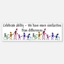"""""""Celebrate Ability"""" Bumper Bumper Bumper Sticker"""