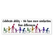 """Celebrate Ability"" Bumper Bumper Sticker"