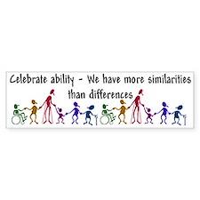 """""""Celebrate Ability"""" Bumper Car Sticker"""