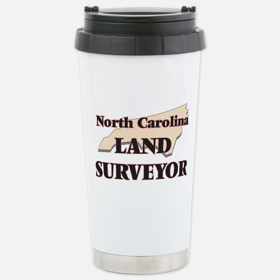 North Carolina Land Sur Stainless Steel Travel Mug