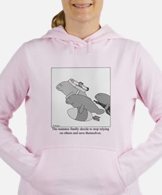Cute Manatees Women's Hooded Sweatshirt