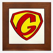 Super G Logo Costume 05 Framed Tile