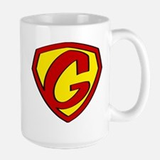 Super G Logo Costume 05 Large Mug