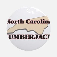 North Carolina Lumberjack Round Ornament