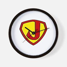 Super J Logo Costume 05 Wall Clock