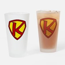 Super K Logo Costume 05 Drinking Glass