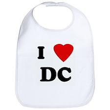 I Love DC Bib