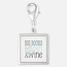 Big Books, Pajamas,Quiet, Wine Blue Charms