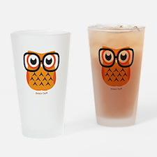 Little Nerdy Owl Drinking Glass