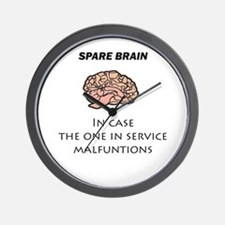 Spare Brain Wall Clock