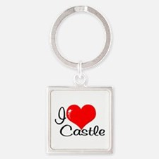 I Love Castle Keychains