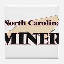 North Carolina Miner Tile Coaster