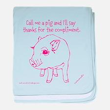 Im A Pig baby blanket