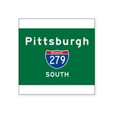 "Cute Pittsburgh Square Sticker 3"" x 3"""