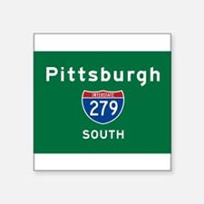 "Cute Pittsburgh city Square Sticker 3"" x 3"""