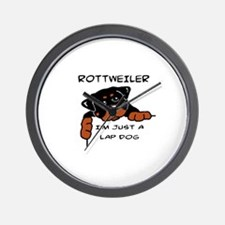 DOGS - ROTTWEILER - LAP DOG Wall Clock