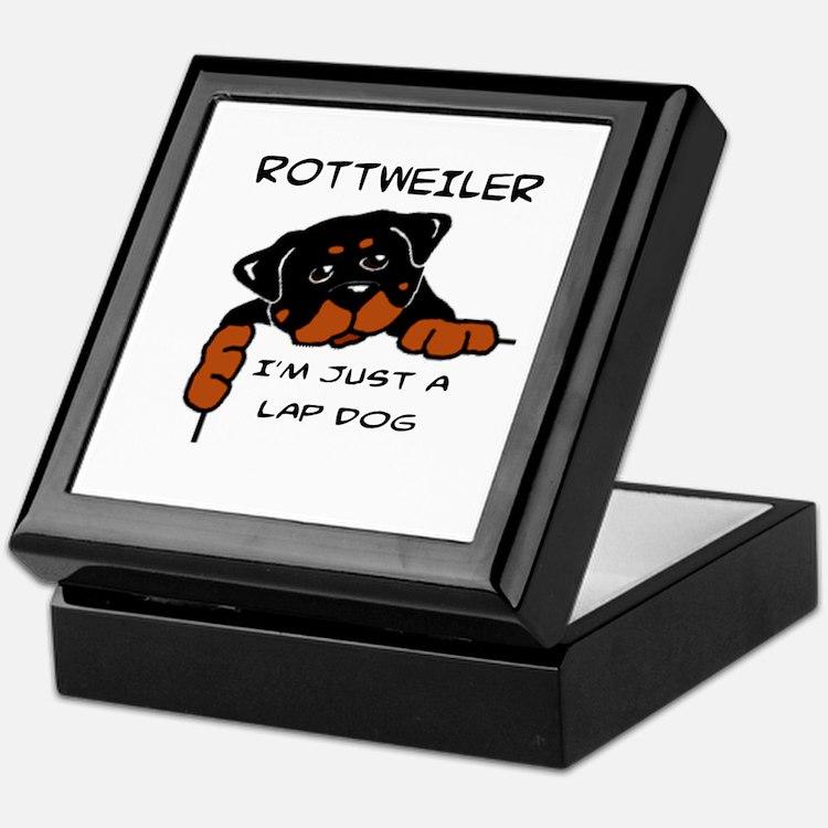 DOGS - ROTTWEILER - LAP DOG Keepsake Box