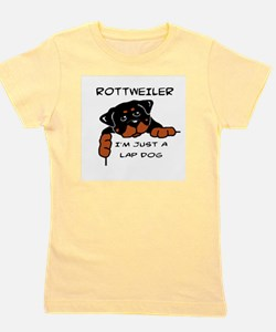 DOGS - ROTTWEILER - LAP DOG Girl's Tee