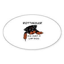 DOGS - ROTTWEILER - LAP DOG Decal