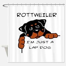 DOGS - ROTTWEILER - LAP DOG Shower Curtain