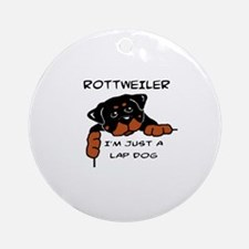 DOGS - ROTTWEILER - LAP DOG Round Ornament