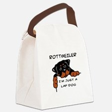 DOGS - ROTTWEILER - LAP DOG Canvas Lunch Bag