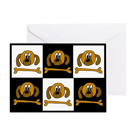Dog & Bone Greeting Card