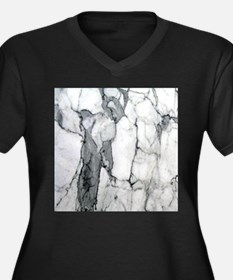 abstract chic white marble Plus Size T-Shirt