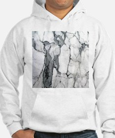 abstract chic white marble Hoodie