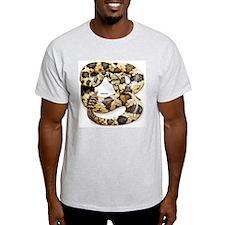 Rattlesnake Snake (Front) Ash Grey T-Shirt