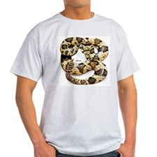 Rattlesnake Snake Ash Grey T-Shirt