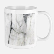 abstract chic white marble Mugs