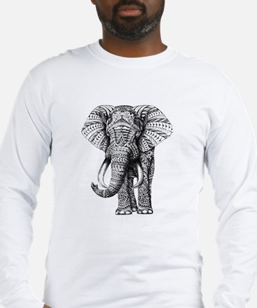 Paisley Elephant Long Sleeve T-Shirt