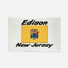 Edison New Jersey Rectangle Magnet